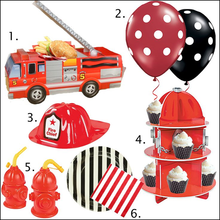 Firefighter-birthday-Party supplies