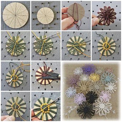Wie DIY Schnur Blume mit Pappe