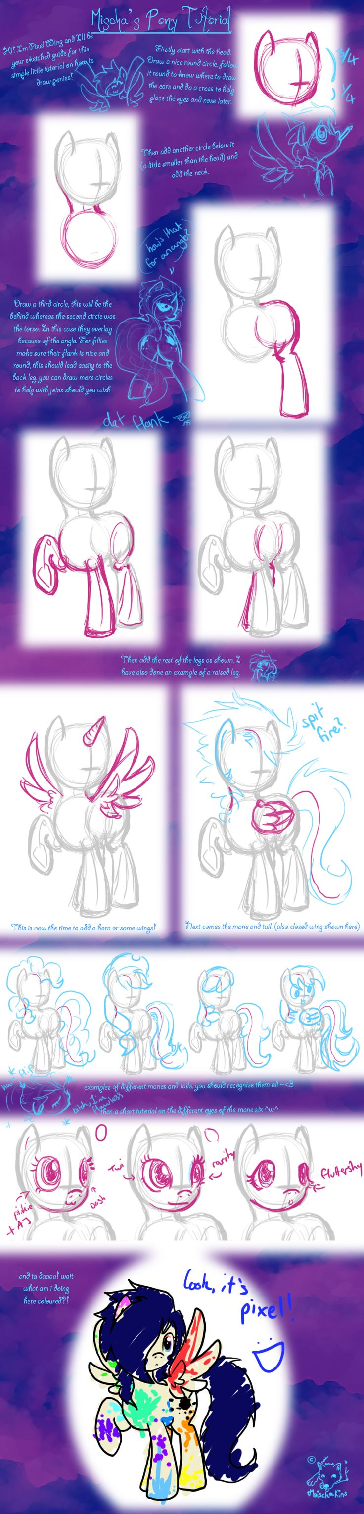 How to Pony by mischakins on deviantART