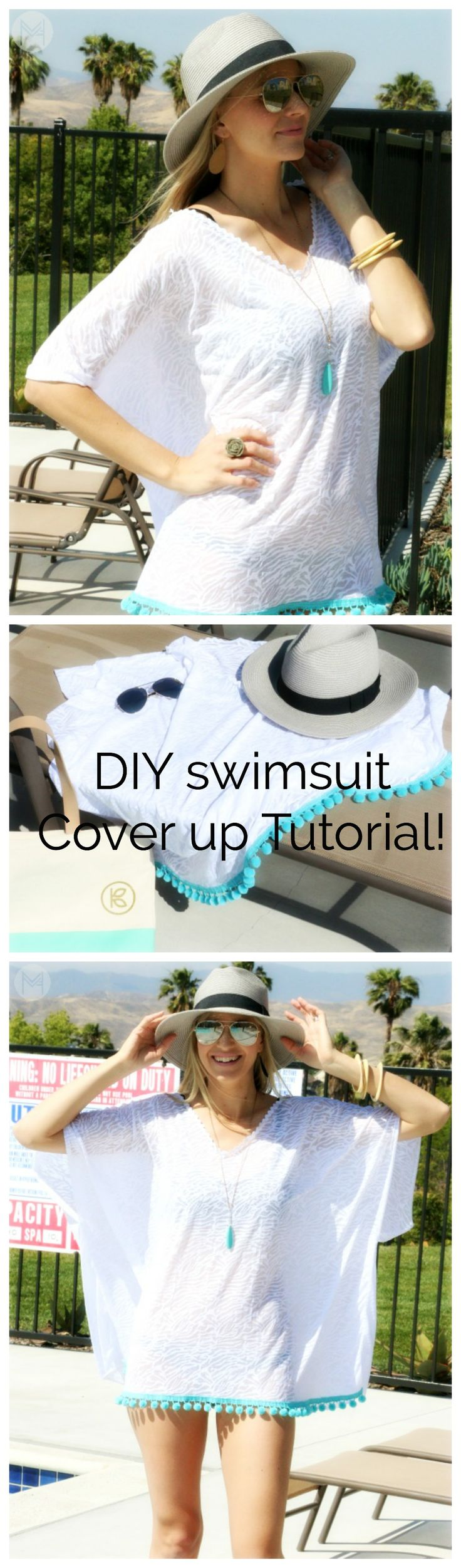 DIY Swimsuit Cover up! A step by step tutorial. Perfect for the beach or pool! www.melaniekham.com
