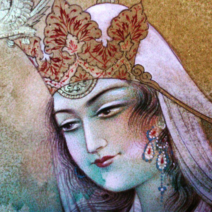 a Persian princess in blue, by Reza Mahdavi, 2015