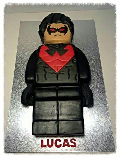 Lego Nightwing cake.