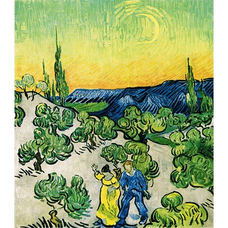 Reprodukcje obrazów Vincent van Gogh Walk in the moonlight - Fedkolor