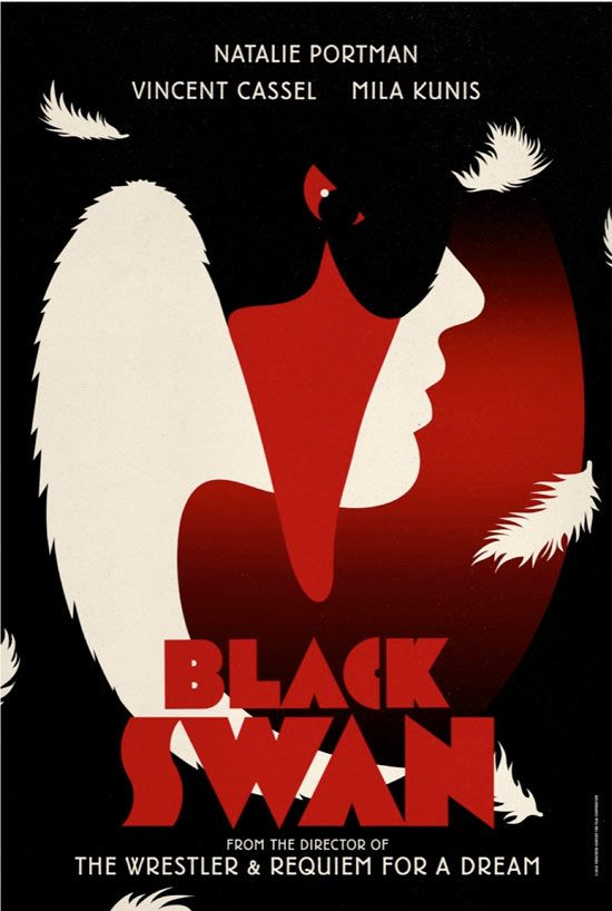 have yet to see Black Swan, but after seeing these posters, I feel a greater urgency to make it to the theater asap. This series of promo adverts were created by London based design studio  LA BOCA
