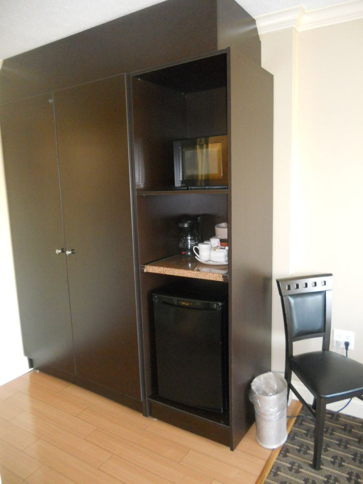 All of our rooms have mini fridge, microwave and coffee/tea maker