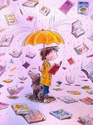 leyendo ilustración