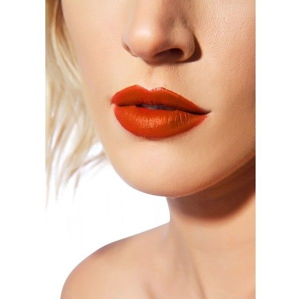 Lime Crime Pumpkin Velvetine Liquid Lipstick ($15) ❤ liked on Polyvore featuring beauty products, makeup, lip makeup, lipstick, lime crime lipstick and lime crime