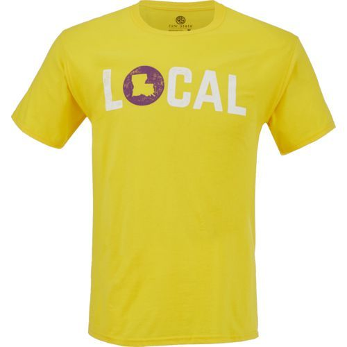 Raw State Men's Louisiana Local T-shirt (Yellow, Size XX Large) - Men's Outdoor Apparel, Men's Outdoor Graphic Tees at Academy Sports
