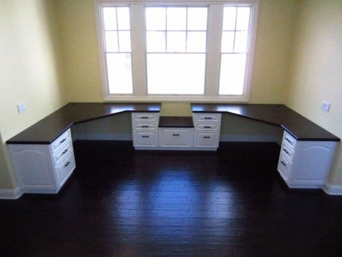 Clever use of space…..four builder grade cabinets and countertops – this would be great in the craft or computer room