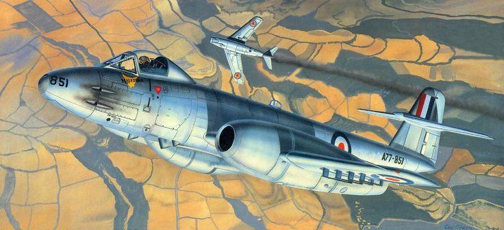Gloster Meteor F Mk 8 RAAF vs MiG-15 North Korea, Korean War, 1950 (Don Greer)
