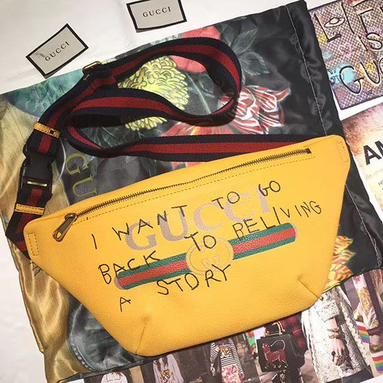 5ad930df2a4 Gucci Coco Capitan Logo Belt Bag Yellow 493865
