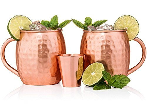 hammered copper mug for moscow mules - 16 oz - 100 pure copper