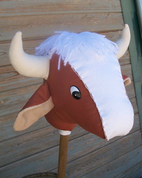 Stick bull! Adorable! Check em out at www.rustichorseshoe.etsy.com to order the pattern or the whole hobby horse