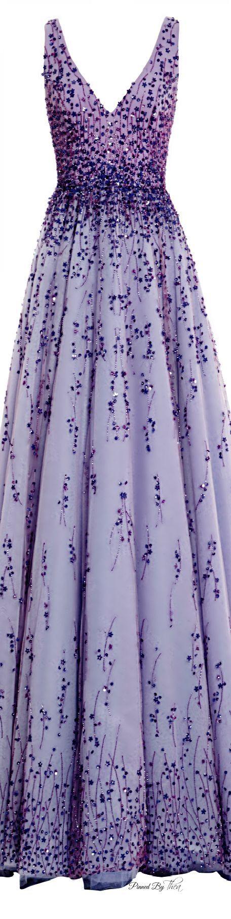 The Michaela7 Monique Lhuillier ● SS 2015, Violet Tulle Ball Gown