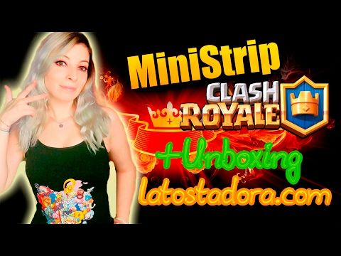 STRIP CLASH ROYALE MINI | UNBOXING | ABRIENDO COFRES SUPERMÁGICOS