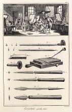 La Gravure en taille douce Illustrations de l'Encyclopédie ou dictionnaire raisonné des sciences, arts et métiers Denis Diderot (1713-1784) et D'Alembert (1717-1783), 1777-1779.