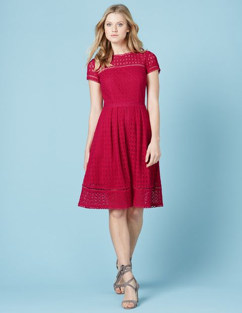 Oxford Lace Dress (Boden) nice length and well-fitted