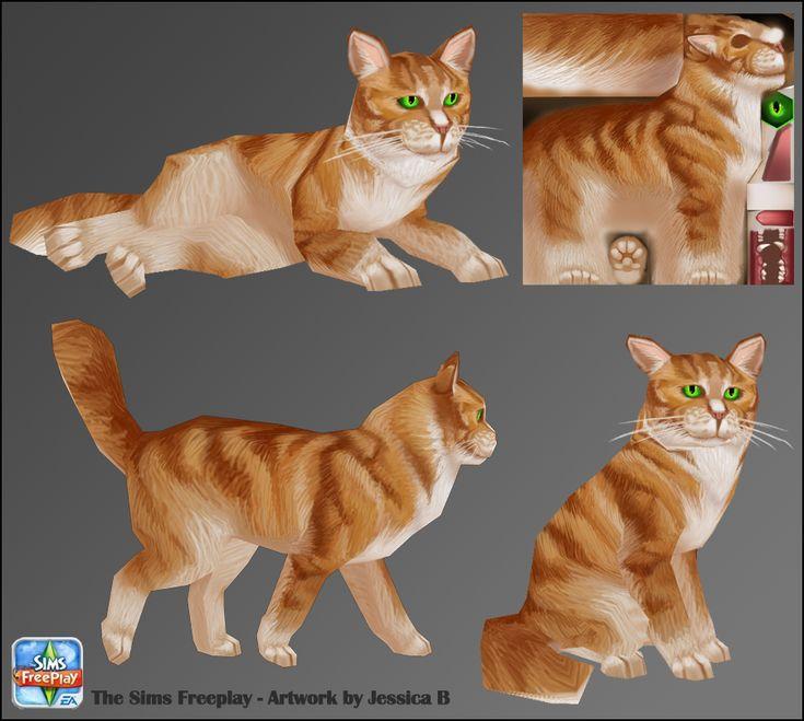 Low poly cat #cg #render #game