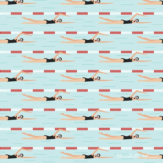 Olympic swimmers 1 by Elizabeth Olwen