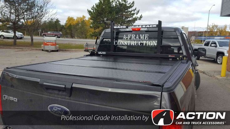 Flex tonneau cover by UnderCover Tonneau Covers and cab guard by Backrack Inc. installed by our store in Barrie, ON #ProfessionalGradeInstallation