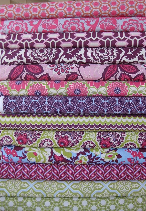 Joel Dewberry Heirloom, Saphire in Fat Quarters, 13 Total #fabric