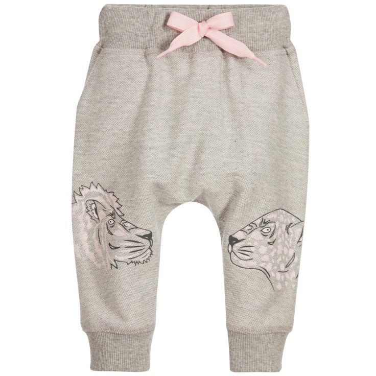 Kenzo Baby Girls Grey Trousers at Childrensalon.com