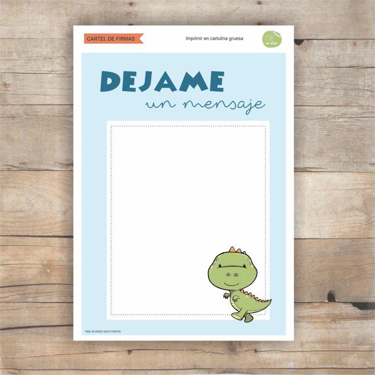cartel de firmas dinosaurios - tienda online
