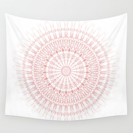 Available in many colors! #mandala wall tapestry white blush #rose #pink #geometric #mandala wall tapestry bedroom #dormtrends #styletrends #mandala wall tapestry bohemian #hippie #boho