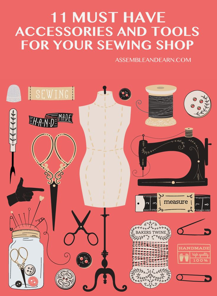 """This is list of """"must have"""" tools and accessories that you must aspire to have in your sewing studio. They are essentials to make your sewing projects go smoothly all the way, with maximum ease, enjoyment and great final outcome."""