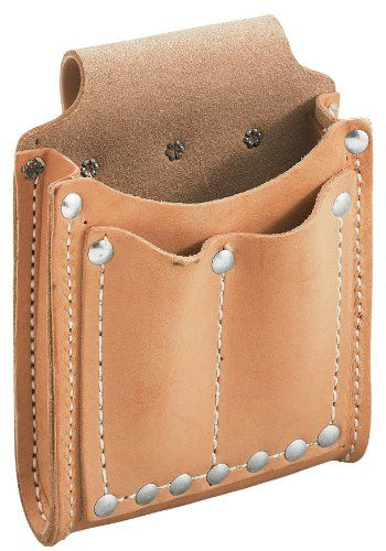 Good design with a flap added. Could put flashlight and pocket knife in the front pouches. klein leather tool pouch