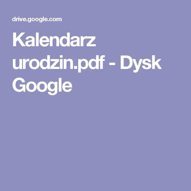 Kalendarz urodzin.pdf - Dysk Google