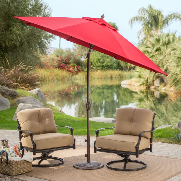 Coral Coast 9-ft. Sunbrella Deluxe Tilt Aluminum Patio Umbrella | from hayneedle.com