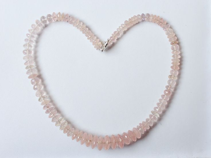 1 Strand Natural AAA Quality 100% Natural Rose Quartz Gemstone Beads Necklace Faceted Cut Rondelle 12mm-6mm Beads Strand 15'' Long Strand by zakariyagems on Etsy