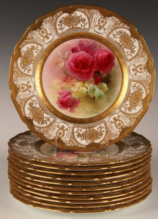 P. CURNOCK SERVICE PLATES FOR BAILEY BANKS \u0026 BIDDLE  Lot 118 & 51 best Hand painted antique plates images on Pinterest | Hand ...