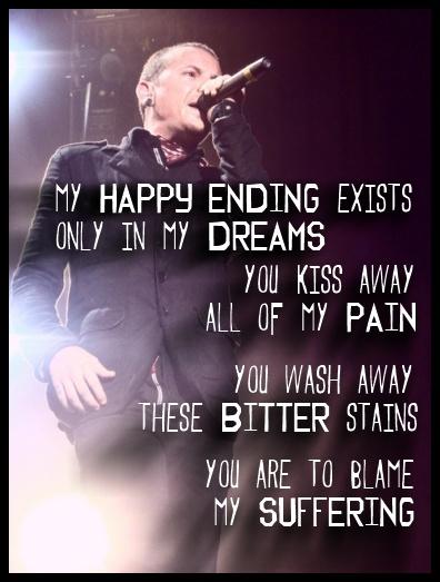 Chester Bennington - dead by sunrise lyrics - my suffering