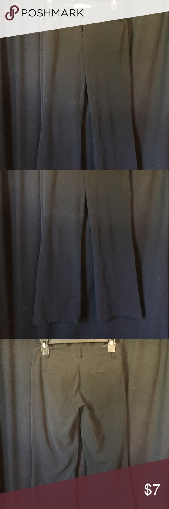 Black slacks These need the zipper part sewn back together. Other than that these are in good condition Star City Pants Trousers
