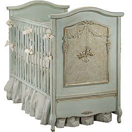 Bonne Nuit Crib in Versailles Blue Finish