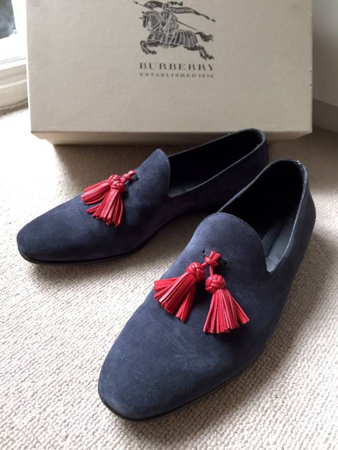 966a8c4aa Burberry Prorsum Suede Smoking Slippers SS16 Size US 10.5   EU 43-44 ...