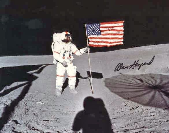 Astronaut James Irwin salutes a U.S. flag planted on the surface of the moon during the Apollo 15 mission. Description from mysanantonio.com. I searched for this on bing.com/images