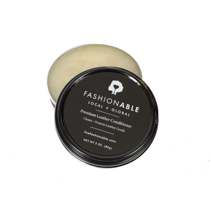 Our leather conditioner replenishes and restores our classic vegetable tanned leathers to keep your bags looking their very best. - 3 oz can of leather conditioner - Beautifies, Conditions, & Strength
