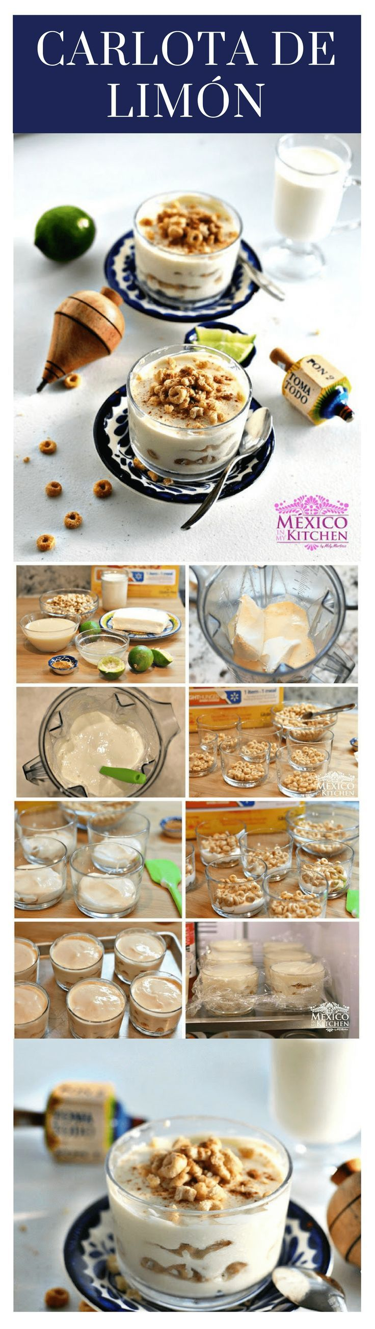 Carlota de limón │ (Lime Charlotte) is a Mexican home-style dessert. It's made with layers of cookies and a creamy mix made out of canned milk and lime juice. #mexicanrecipes #carlota #mexicancuisine #desserts