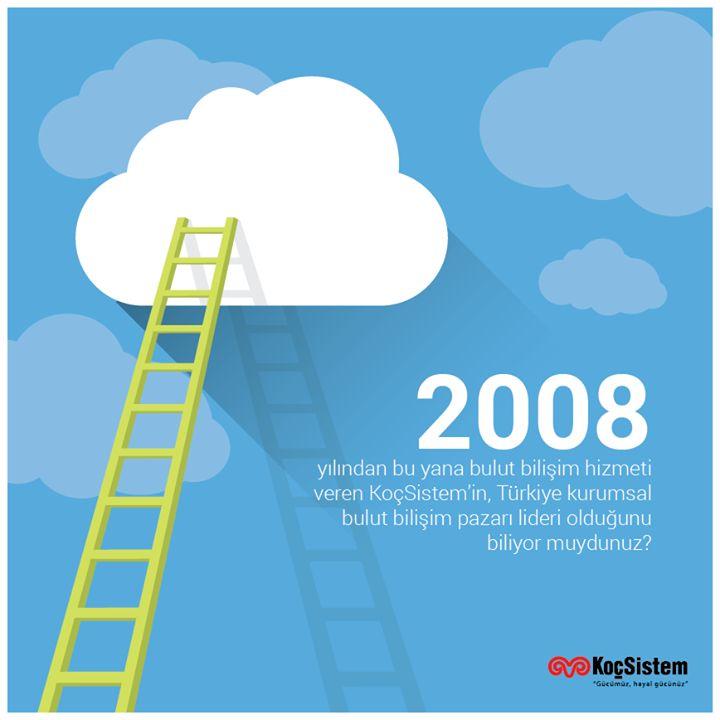 2008 yılından bu yana bulut bilişim hizmeti veren KoçSistem'in, Türkiye'nin kurumsal bulut bilişim pazarı lideri olduğunu biliyor muydunuz? #KoçSistem