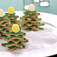 These tree-shaped cookies look divine on a holiday buffet but are easy to make and decorate.