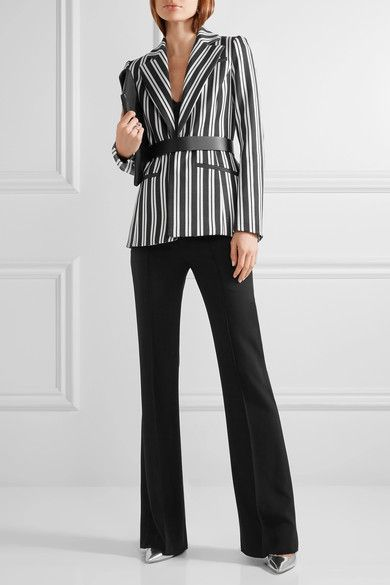 Altuzarra - Acacia Striped Wool-blend Blazer - Charcoal