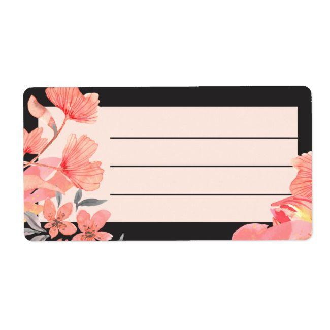 coral watercolor labels Coral favor stickers grey watercolor labels custom stickers orange stickers gray stickers watercolor labels