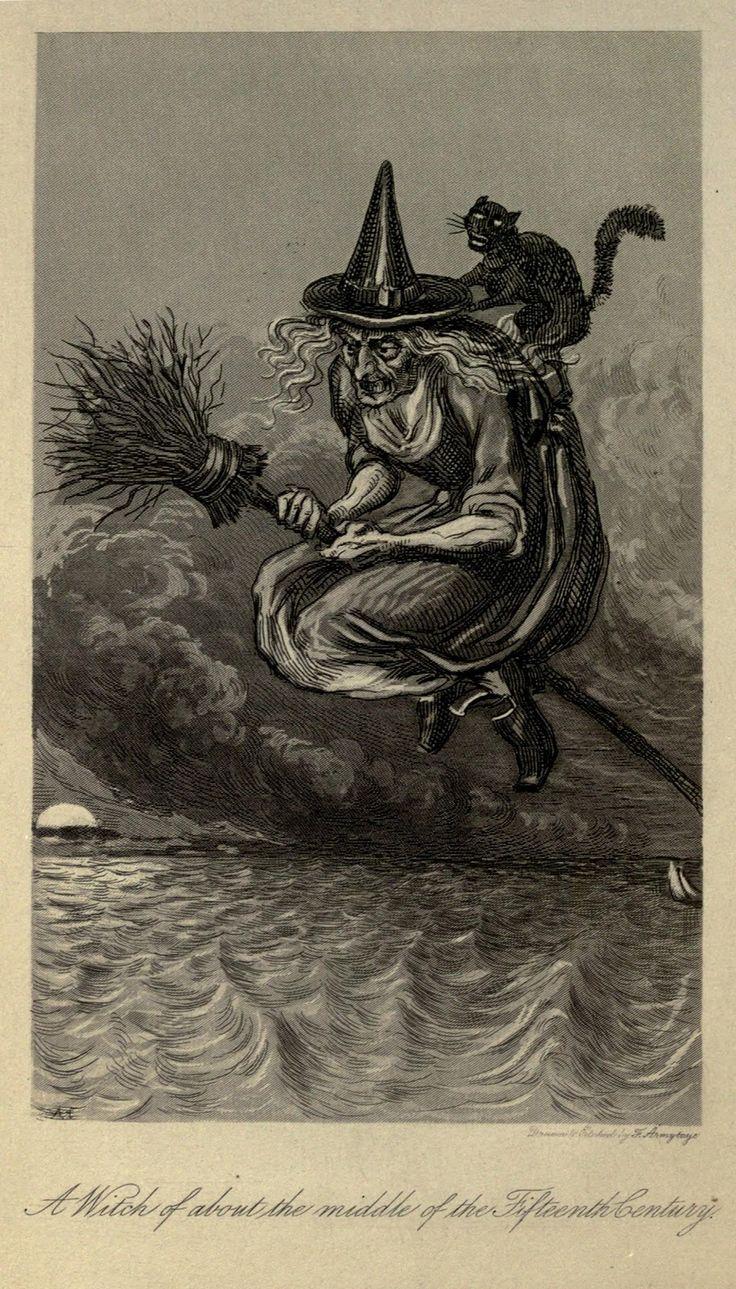 a nostalgic halloween witch illustration - Halloween Witchcraft