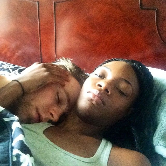 Ravishingbrown: He can sleep all day tho… #swirl #instadaily #bwwm #wmbw