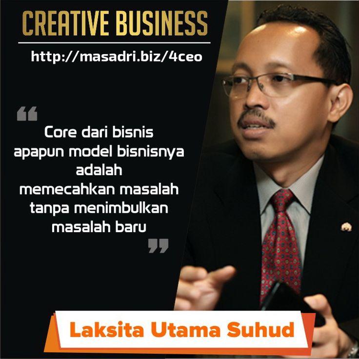 Core dari bisnis adalah memecahkan masalah tanpa menimbulkan masalah baru... #motivasibisnis