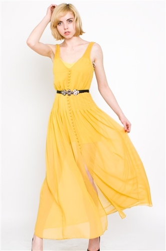 Yellow Ladakh Landscape Dress