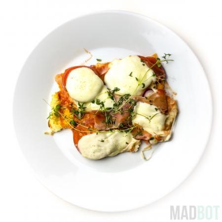 Blomkålspizza med hytteost ingredienser